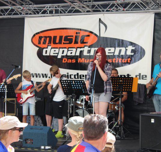 music department auf dem Reichsstraßenfest im Juli 2017